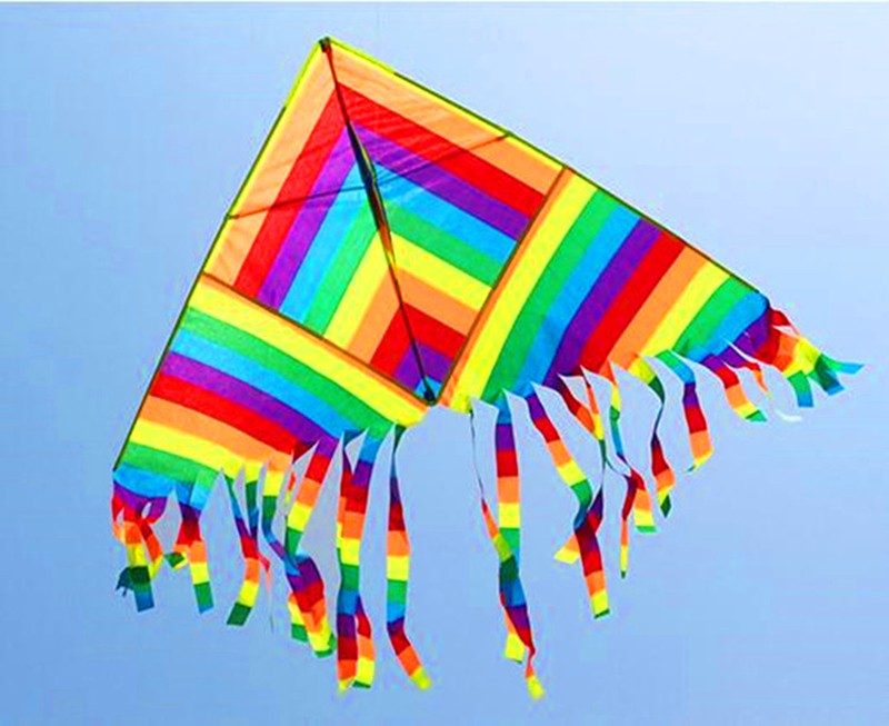 Высокое качество, стиль, цветной delta kite, 10 шт./партия, с радужными хвостами, красивый китайский воздушный змей, распродажа
