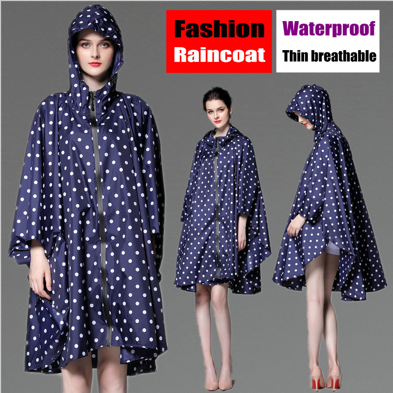 d6d3ba905c643 جديد حجم كبير الرجال والنساء خفيفة الوزن Packback المعطف الأزياء الأزرق مع  نقطة للماء معطف واق