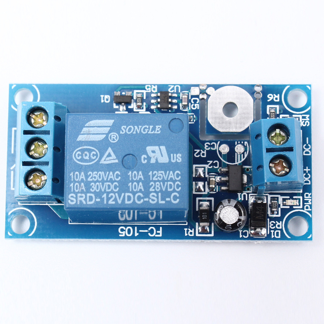 12V 1 Channel Touch Relay Module Capacitive Touch Switch-in ...