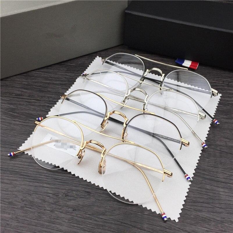 ②Hecho a mano retro marco Thom 903 Gafas de metal marco miopía ...