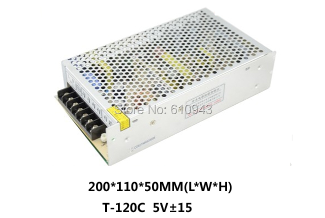 T-120CFree Shipping120W MINI triple Output Switching power supply Output Voltage 5V 15V 15V AC-DC T-120C t 120a triple output power supply 120w 5v 15v 15v power suply ac dc converter power supply switching