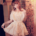 Princess sweet lolita dress BoBON21 Exclusive design summer new The wings of an angel embroidery love lace straps  dress D1195