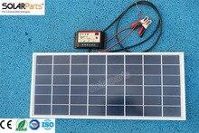 Solarparts 1×20 W polycristallin panneau solaire module système cellulaire 12 V DIY kits pour jouets lumière led science jouet expérience en plein air