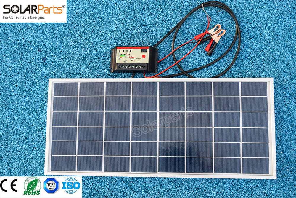 Solarparts 1x 20W polycrystalline solar panel module cell system 12V DIY kits for toys light led