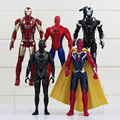 5 unids/lote The Avengers superhéroe Iron Man Spider Man de juguete figura Spiderman PVC figuras muñecas juguetes gran regalo