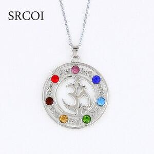 7 хрустальных бусин «сделай сам», чакры, кулон для йоги, медитации и в форме ангела, кварцевый кристалл, ожерелье, исцеляющая точка, подвеска ...