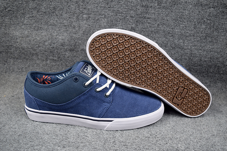 ФОТО US Size 6-11 New GLOBE MAHALO Blue/Dark Blue Anti-Fur Low Top Shoes Leisure Flat Hard-Wearing Athletic Shoes