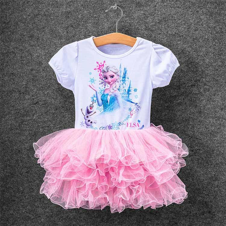 2017 New Girls Children Clothes Anna Elsa TUTU Dress For Girl Baby Dress Custom Vestidos Summer Cospaly Party Children Clothing кухонная мойка zigmund amp shtain rechteck 645 индийская ваниль