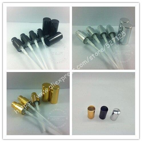 Güzellik ve Sağlık'ten Doldurulabilir Şişeler'de Parlak siyah/altın/gümüş alüminyum parfüm püskürtücü kapaklı 5ml  10ml  15ml  20ml  30ml  50ml  100 ml parfüm şişesi, 18/410'da  Grup 1