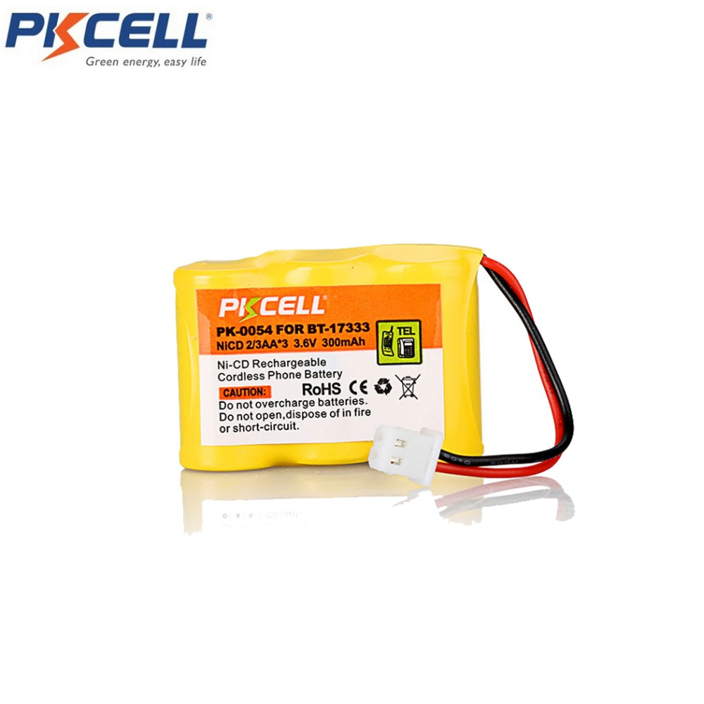 1 Ni-Cd <font><b>Battery</b></font> Pack NiCd 2/3AA <font><b>300mAh</b></font> 3.6V Cordless Phone <font><b>Battery</b></font> Replacement For Vtech BT-17333 BT-27333 image