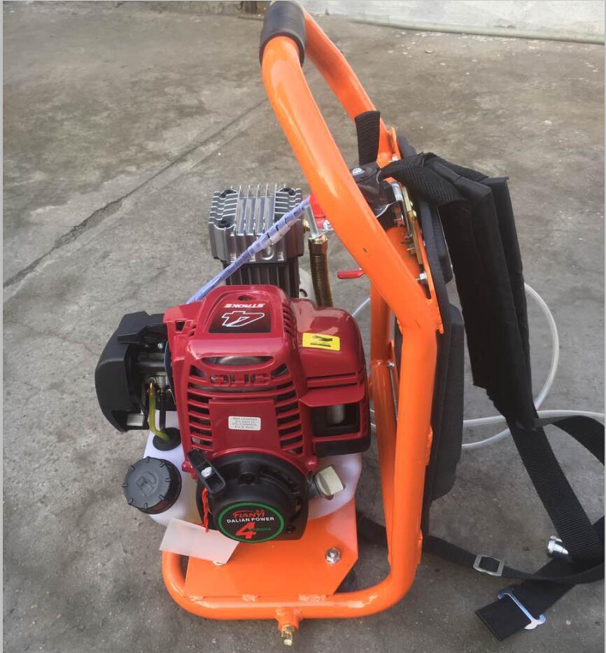 Backpack portable small gas air compressor pump 4 stroke for Air compressor pump and motor