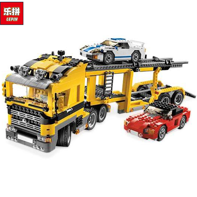 Lepin 24011 1344Pcs Technic Series The Three in One Highway Transport Set Educational Building Blocks Brick Toys Model Gift 6753 compatible with lego technic creative lepin 24011 1344pcs 3 in 1 highway transport building blocks 6753 bricks toys for children