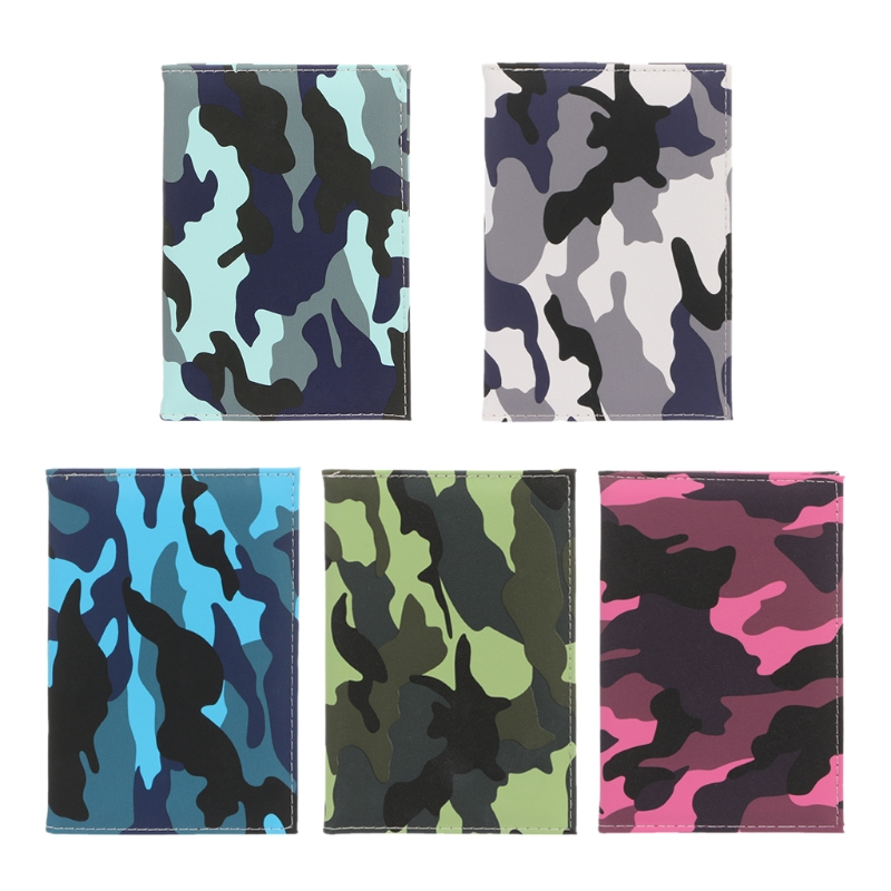 Camouflage Color Passport Travel Organizer Holder Card Case Protector Cover Travel Accessories