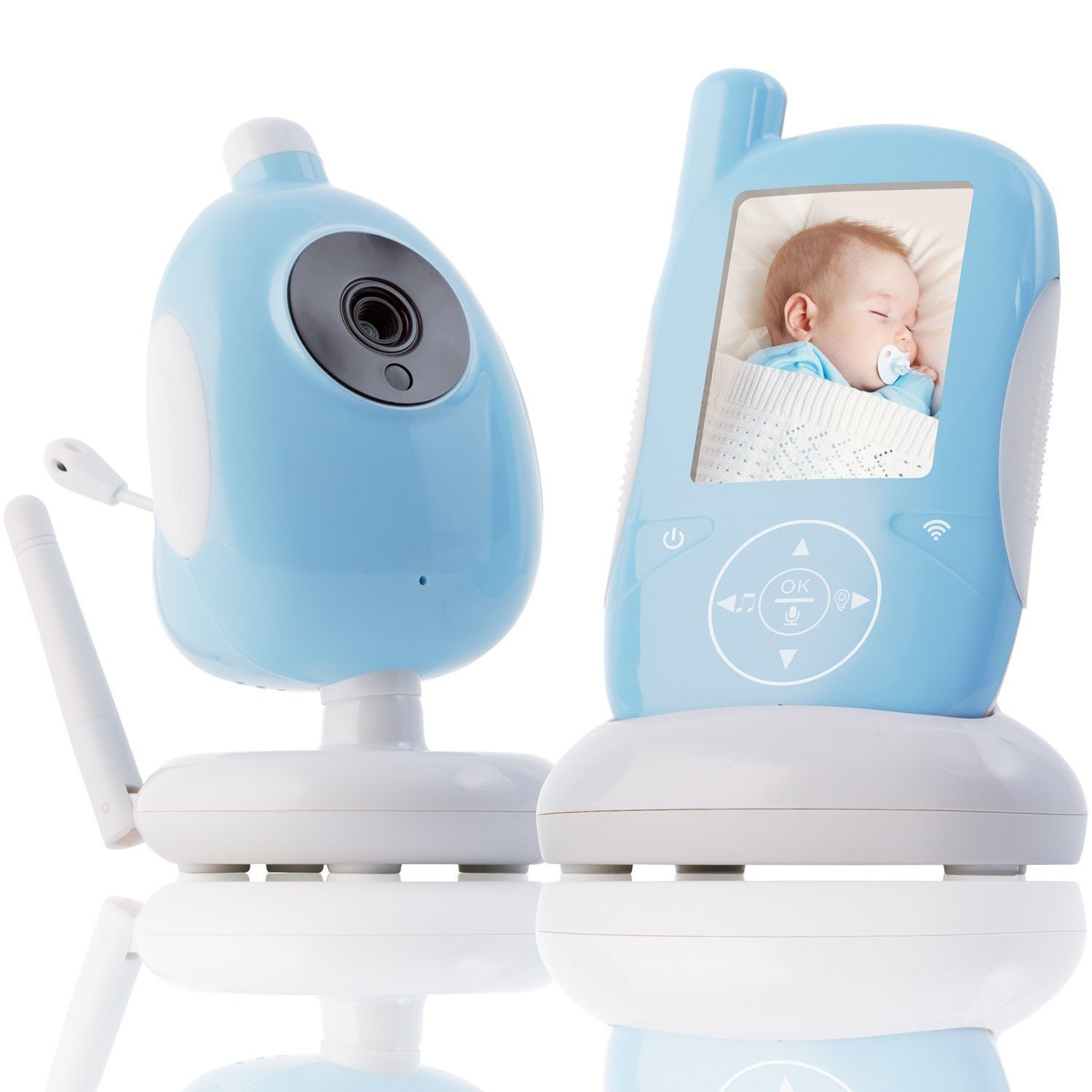 "Wireless Video Baby Kids Monitor Security Camera 2""/2.4"" LCD Screen 2 Way Talk Night Vision 2.4G IR LED Temperature Hassle-Free"