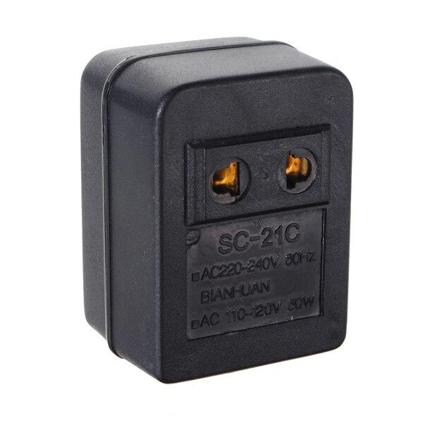 AC 220V To 110V 110V To 220V AC Power Voltage Converter 30W Adapter Travel Transformer Step Up Step Down Regulator Travel Portab