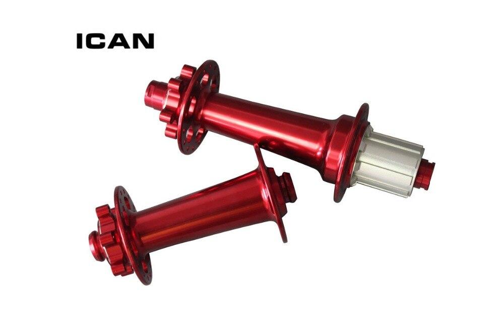 Moyeux de vélo Powerway M74 gros moyeux noir ou rouge moyeux de vélo avant 15x150 arrière 12x197 à travers le moyeu de frein à disque dessieu