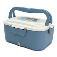 1.5L Lunch Box 220V Children Electric Portable Heated Lunch Box Office Adult Orange Pink Blue Lunchbox New Year Gift