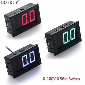 DC 0-100 в 3-проводной вольтметр светодиодный 0.56in цифровой измеритель напряжения панель монитор тестер инструменты