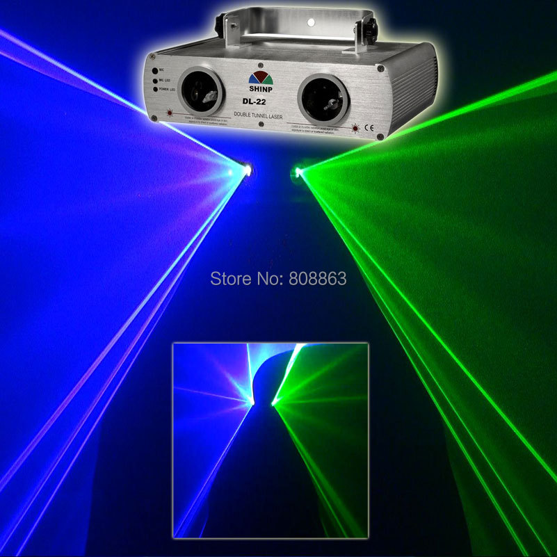 2Lens G&B Laser Lines Scan Beam Full Color DMX512 DJ Dance Bar Xmas Party Club Disco Effect PR. Stage Lighting Light Show S15