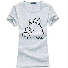 kawaii totoro print t shirt women 2019 summer funny cotton short sleeve tees fashion harajuku brand female t-shirt punk  tops