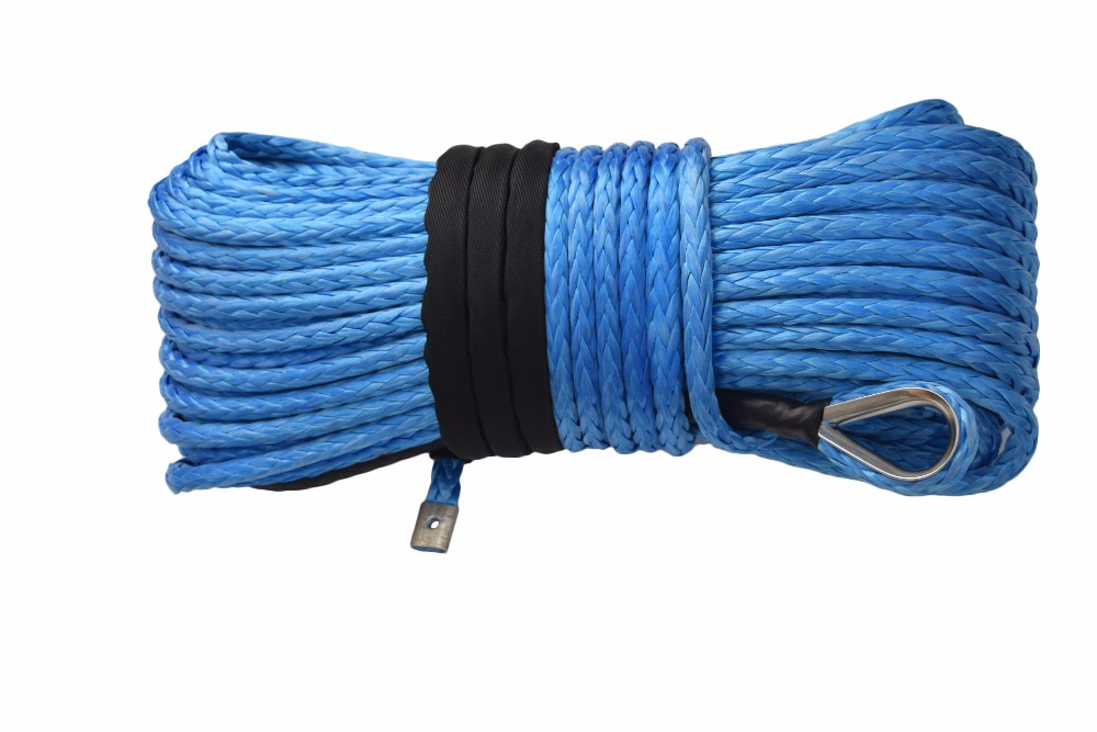 "5//16/""*100ft Synthetic Rope with 10/"" Hawse Fairlead,ATV Winch Contactor add Hook"