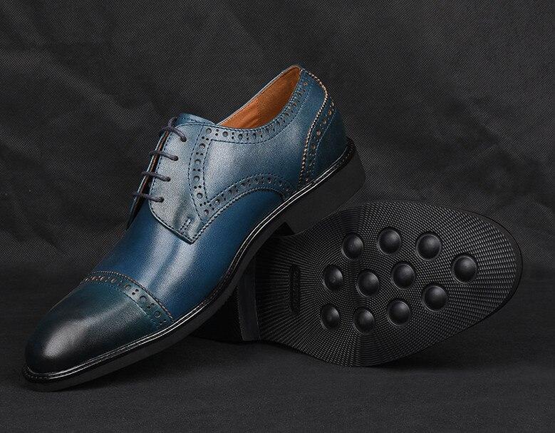 As De Esculpida Retro as Rendas Pic Bullock Pic Casuais Couro Masculinos Verão Maré Negócios Britânico Homens Sapato Respirável Sapatos Dos pttwaq