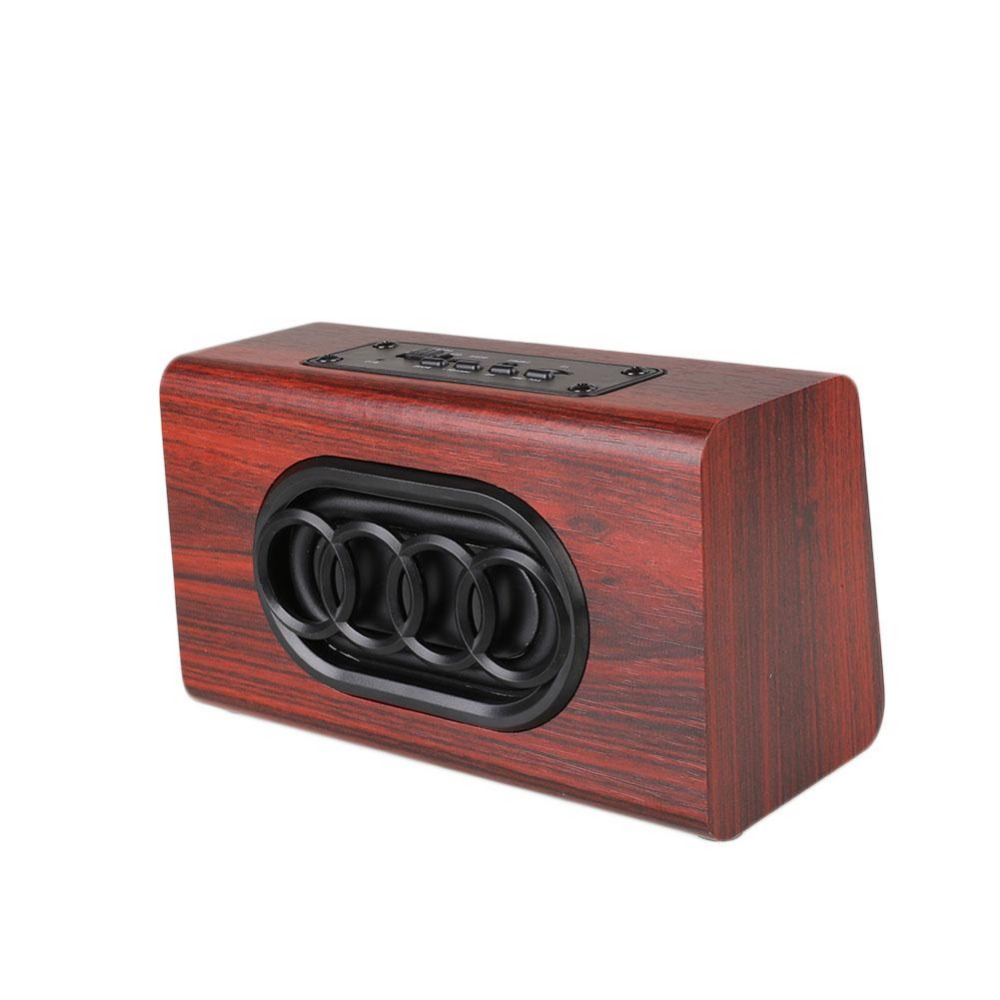 Avanshare Leseni Bluetooth zvočnik Retro Wood HIFI 3D Dvojni - Prenosni avdio in video - Fotografija 5