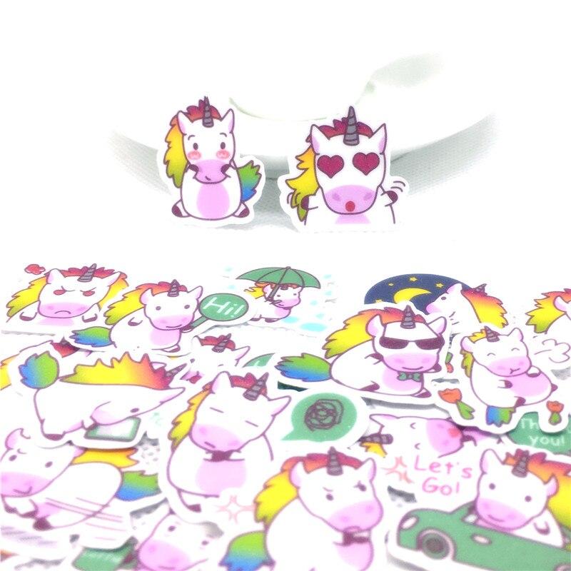 40 Pcs Loving Pegasus Sticker for kids toys book phone School Supply Fashion Decoration Vinyl Decals DIY Stickers scrapbooking