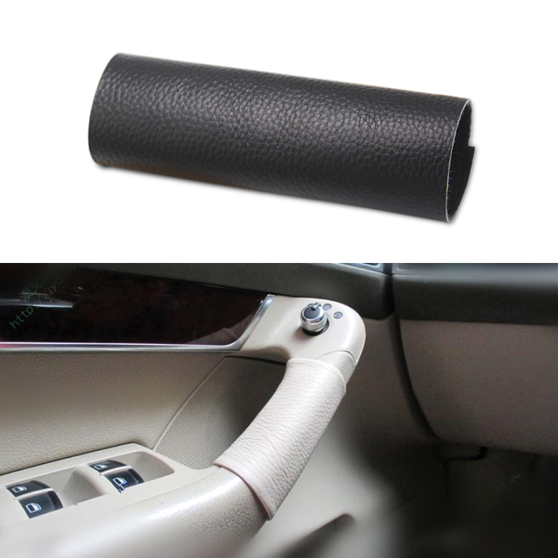For Audi A6 C6 2005 2006 2007 2008 2009 2010 2011 Car Interior Door Handle Hand Sewing Cow Leather Cover