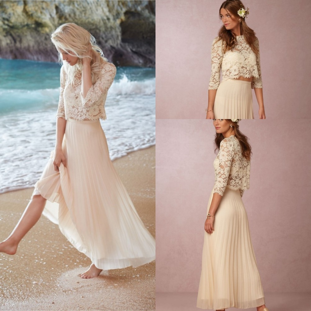 Buy 2017 Half Sleeves Ivory Lace Vintage