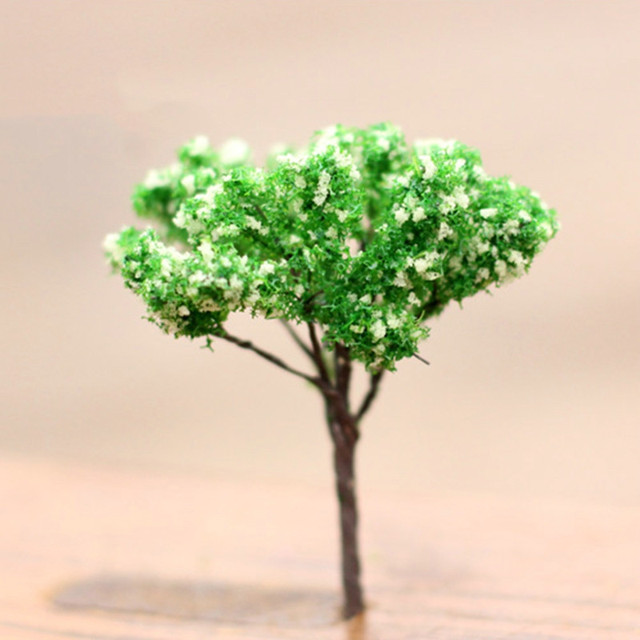 1PC Mini Tree Artificial Garden Miniature Resin Craft Home Decoration Micro Landscape Bonsai Plant 5