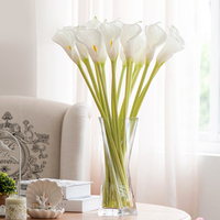 Christmas Pu Real Touch Large 66CM Elegant Lily Calla Bundle diy Artificial Flower Wedding Home Decoration Valentine's day Gift