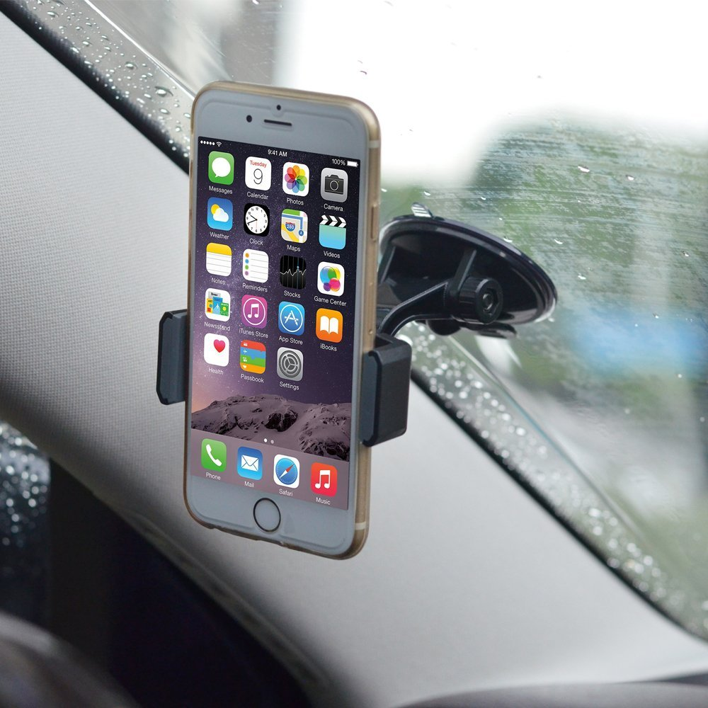 Car bathroom accessories - Suction Cup Phone Holder For Car Dashboard Windshield Universal Suction Cup Phone Mount To Kitchen