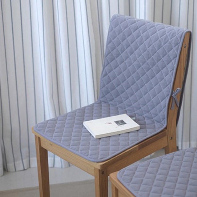 Solid Color Cotton Linen Chair Cushion Non Slip High Quality Seat Cushion /back
