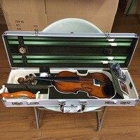 Silver Metal Violin Case Size 4 4 Aluminum Alloy Violin Case Super Large Inside Storage Space