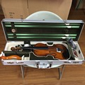 Silver Metal violin case size 4/4 Aluminum Alloy violin case super large inside storage space