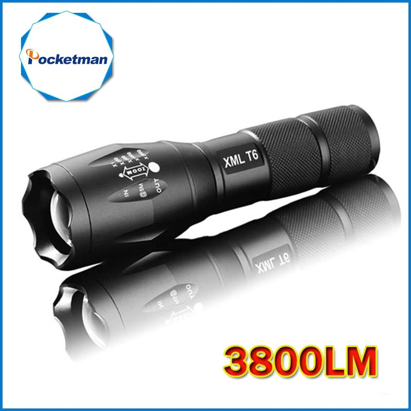 LED Flashlight 3800 Lumens Tactical Flashlight CREE XM-L T6 LED Torch Zoomable cree light For 3xAAA or 1x18650 Camping Hiking nitecore mt10a tactical flashlight edc cree xm l2 u2 920 lumens led mini torch with red white light by 14500 aa battery