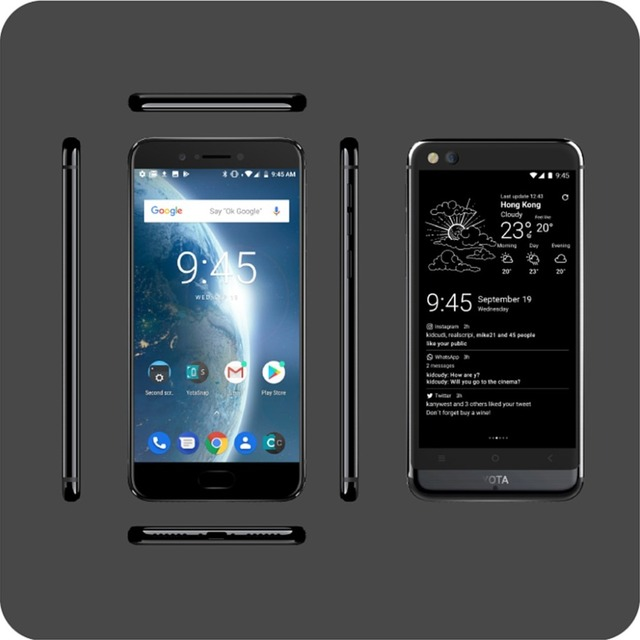 Global version Yota 3+ Yotaphone3+ 64G/128G Android8.1OctaCore DualScreen 5.5 3