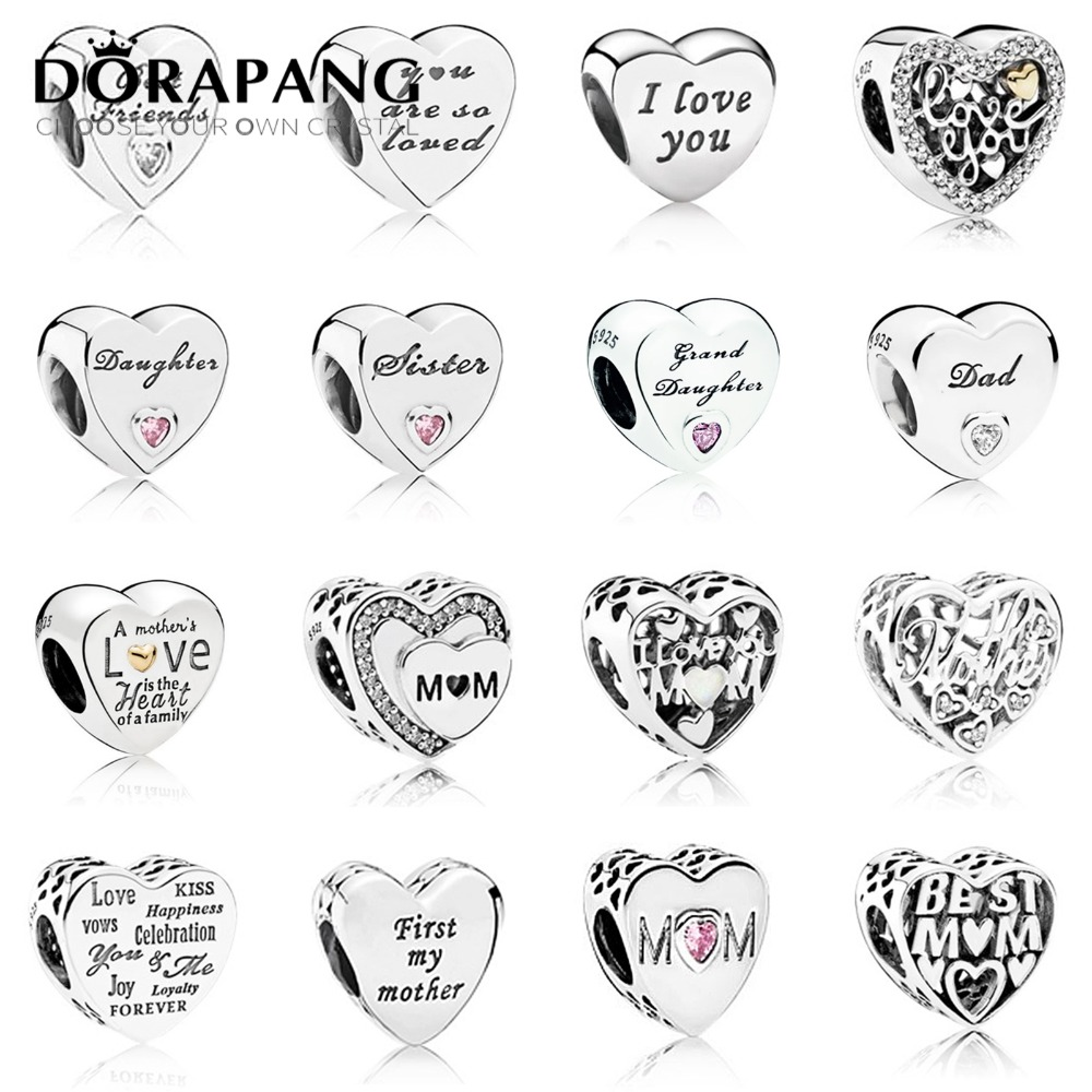 DORAPANG 100% 925 Sterling Silver Bracelet For Original Europe Spring Women's Day LOVE Mother Gift DIY Family Charm Bead Jewelry dorapang 100