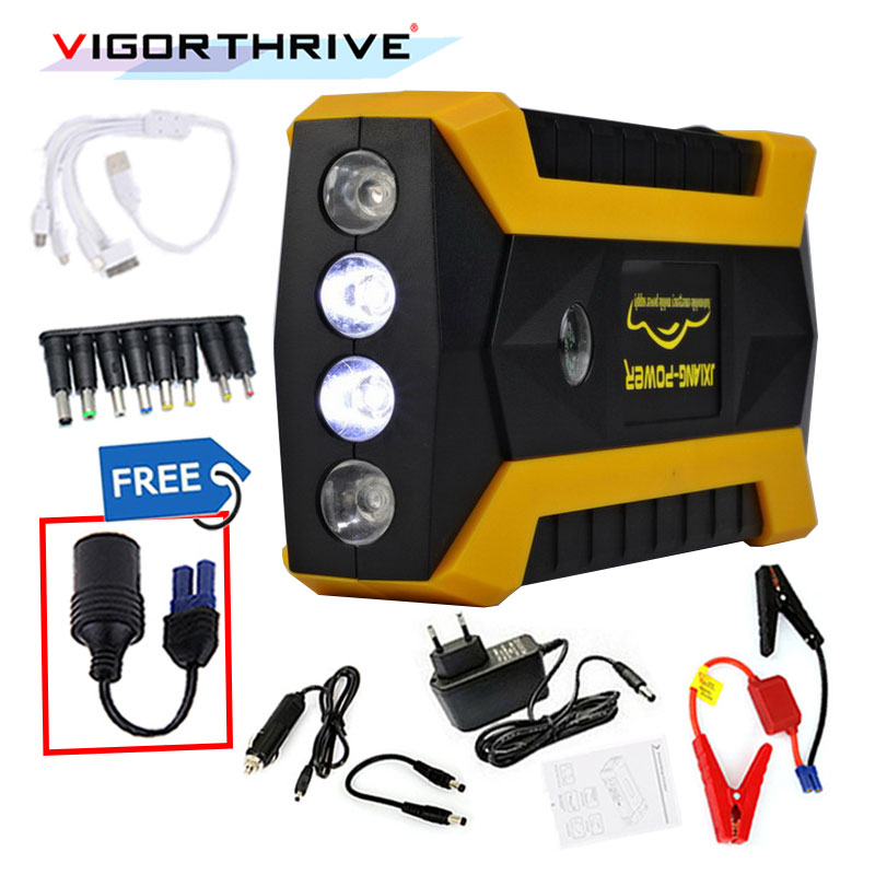 Mini Car Jump Starter For Petrol Car Auto Starting Car Battery Booster Petrol Starting Device 12V Power Bank Emergency Discharge цена