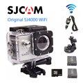 Frete grátis!! orignal 16 gb + sjcam sj4000 wifi esporte capacete traço camera dvr + car charger + suporte para carro + extra 1 pcs bateria
