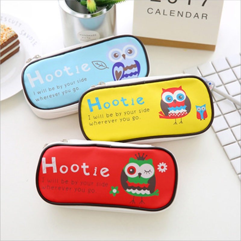 Cute Owl Pencil Case Large Capacity  Storage Organizer Pen Bags Pouch Pencil Bag School Supply Stationery