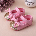 2017 New Tassel Bowknot Baby Shoes Red pink For 0-2 Years Old Handmade High Quality For Baby Girls First Walkers Fashion Shoes