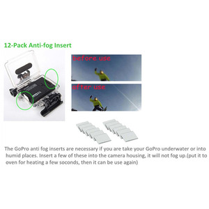 Image 3 - 60 ชิ้น/ล็อตสำหรับ Gopro Anti   Fog Inserts Anti หมอกรีไซเคิลแห้งสำหรับ Gopro Hero 6 5 4 3 + 3 2 SJCAM Xiaomi yi Action Camera