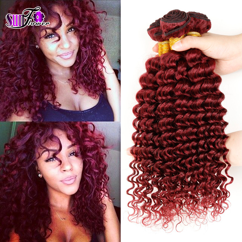 Beautiful cexxy peruvian virgin hair wet and wavy red