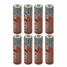 Новые 8 шт. PKCELL 2500mWh 1.6 В Ni-Zn батареи AA Перезаряжаемые Батарея стабильную работу nizn Batteria для игрушки Цифровой Камера MP4