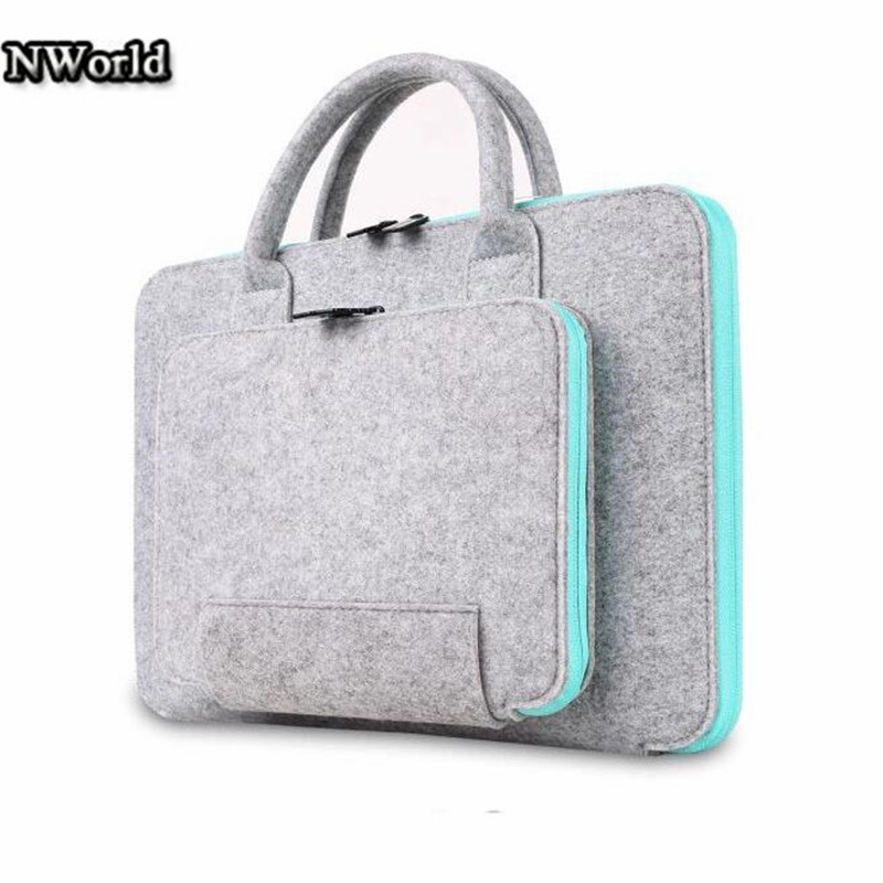 Hot sell Felt Universal Laptop Bag Notebook Case Briefcase Handlebag Pouch For Macbook Air Pro 13