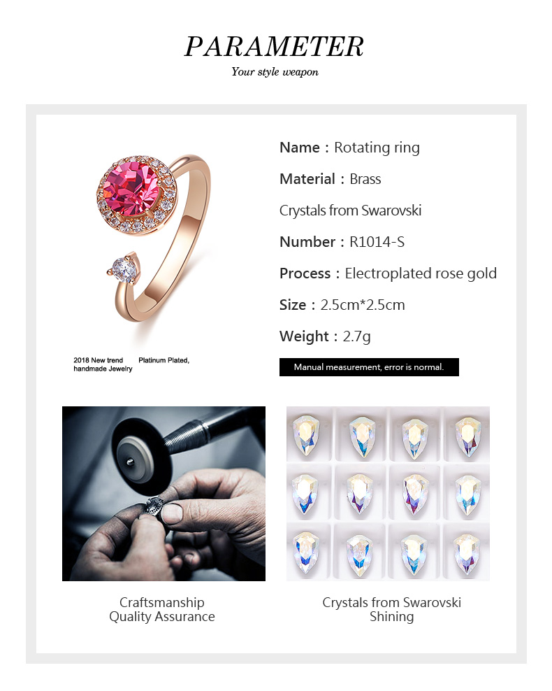 Pink Crystals Rose Gold Ring (3)