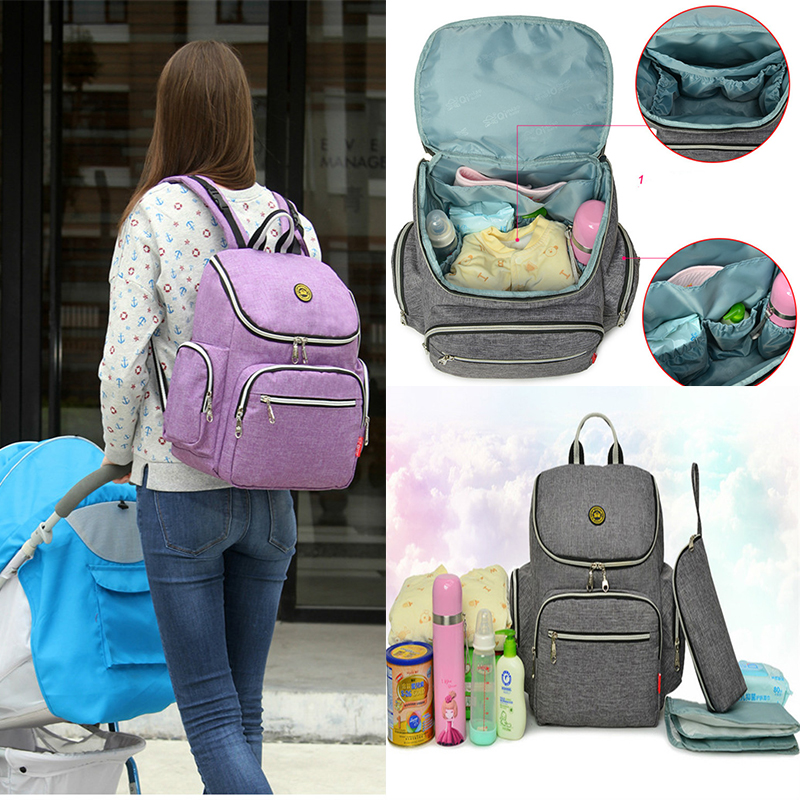 Large Capacity Diaper Bag Baby Care Mummy Bags Anti Theft Multifunctional Maternity Stroller Nappy Bags Diaper Backpack Pram Bag yingnuost d66 anti theft multifunctional waterproof backpack digital camera shoulder oxfords with inner bag large capacity