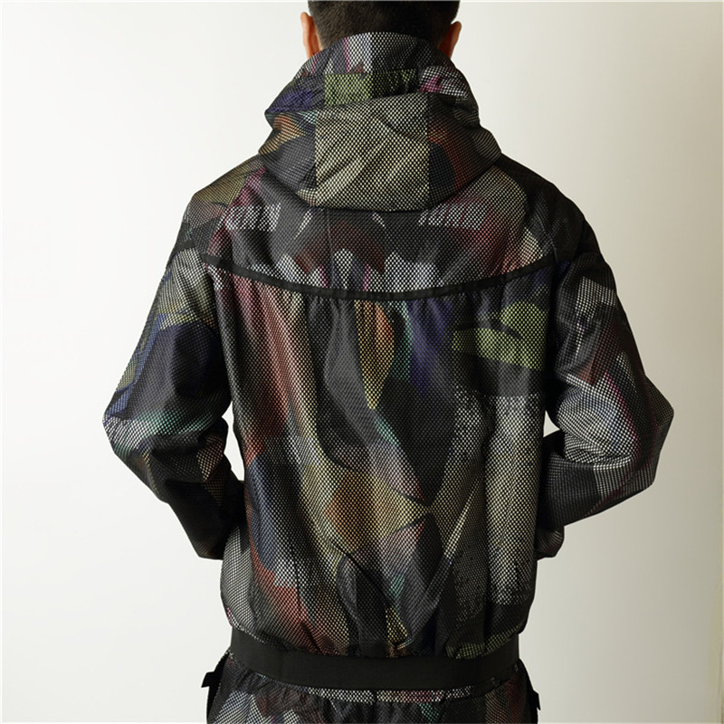 Hip hop Skateboard Harajuku Brand Army Camouflage Military Jacket Men Women Casual Sportsswear Hooded Windbreaker Oucoats M-XL